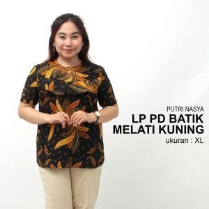 Harga atasan big size batik wanita blouse jumbo model bunga bolero seragam   | HARGALOKA.COM