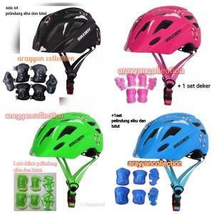 Harga helm sepeda anak dengan lampu belakang helm adjuster deker   impor   | HARGALOKA.COM