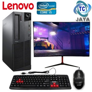 Harga pc komputer built up slim plus monitor 19inch   lenovo siap | HARGALOKA.COM