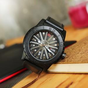 Harga jam tangan pria original belleda 9105   tali jam tangan kulit   | HARGALOKA.COM