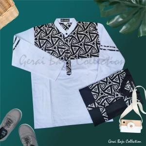 Harga baju koko batik anak laki laki atasan muslim anak koko anak usia 10 13   putih 10 11 | HARGALOKA.COM