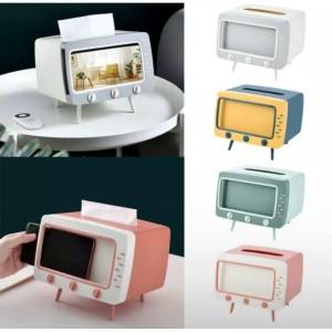 Harga kotak tissu plus holder hp tissu box tv multifungsi kotak tissu | HARGALOKA.COM