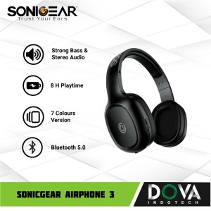Harga headset bluetoth sonicgear airphone 3 wireless | HARGALOKA.COM