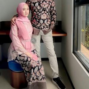Harga kebaya modern batik couple brukat baju kondangan pesta model kekinian   | HARGALOKA.COM