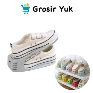 Harga grosir   rak sepatu tempat sandal bisa atur tinggi shoes organizer be   | HARGALOKA.COM