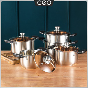 Harga ceo set panci stainless steel 5 in 1 set panci stainless 5 | HARGALOKA.COM