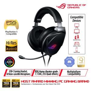 Harga asus rog theta 7 1 gaming headset with ai noise cancelling | HARGALOKA.COM