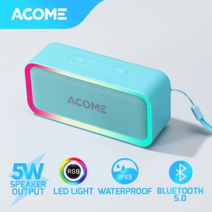 Harga acome bluetooth speaker tws 5w rgb led party ipx5 waterproof a6   | HARGALOKA.COM