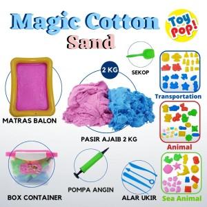 Harga mainan pasir magic cotton sand 2kg lengkap box alas balon cetakan   alat   HARGALOKA.COM