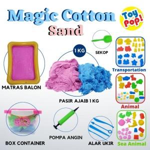 Harga mainan pasir magic cotton sand 1 kg lengkap box alas balon cetakan   binatang   HARGALOKA.COM