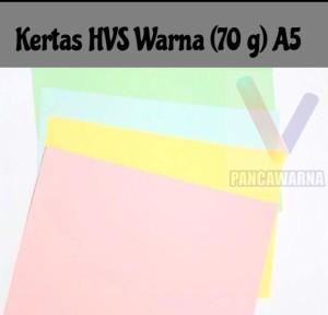 Harga kertas hvs warna a5  70 g 500 lembar | HARGALOKA.COM