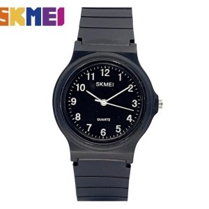 Harga jam tangan pria wanita skmei 1419 analog   hitam angka   HARGALOKA.COM
