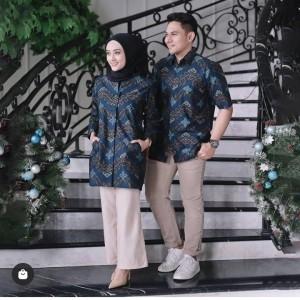Harga baju batik sarimbit pasangan coupel pria wanita murah modern | HARGALOKA.COM