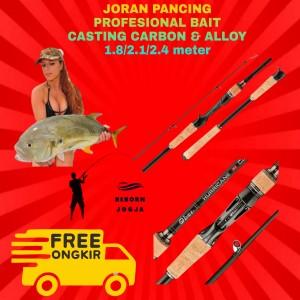 Harga joran pancing bait casting laut amp tawar carbon amp alloy premium import   1 | HARGALOKA.COM