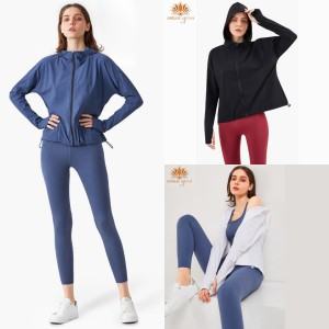 Harga jaket sport olahraga wanita outdoor with hoodie windproofing wt1280   blue | HARGALOKA.COM
