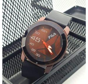 Harga jam tangan pria sporty   jam tangan analog   tali jam tangan karet   cokelat | HARGALOKA.COM