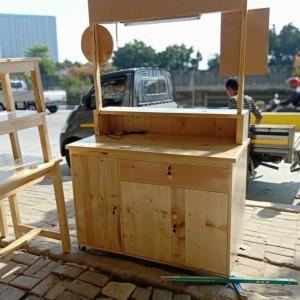 Harga booth kayu portable grobak kayu | HARGALOKA.COM