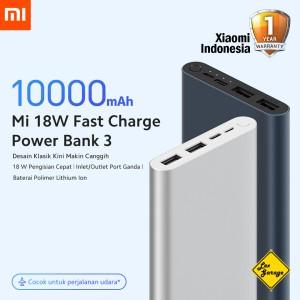 Harga xiaomi mi power bank 3 10000mah 18w dual usb garansi xiaomi indonesia   | HARGALOKA.COM