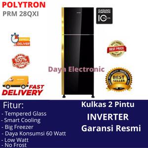 Harga free bogor kulkas inverter 2 dua pintu polytron prm 28qxi lemari | HARGALOKA.COM