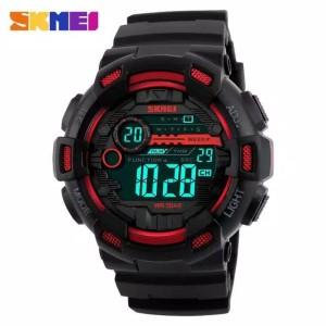 Harga jam tangan pria sport skmei 1243 digital led water resist 50m gshock   hitam | HARGALOKA.COM
