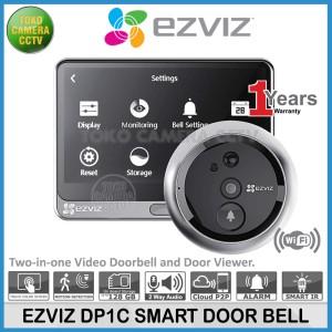 Harga ezviz dp1c doorbell door viewer peephole kamera bell   HARGALOKA.COM