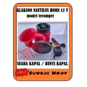 Harga klakson kapal horn nautilus dinamo terompet relay untuk motor mobil   | HARGALOKA.COM