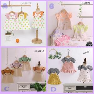 Harga dress anak bayi import baju perempuan balita impor fashion lucu murah   a kuning | HARGALOKA.COM
