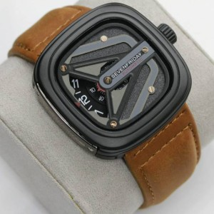 Harga jam tangan pria sevenfriday m3 tali jam tangan kulit premium leather   cokelat | HARGALOKA.COM
