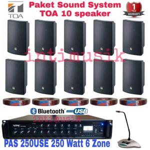 Harga paket speaker toa sound system restoran kafe kantor 10   HARGALOKA.COM