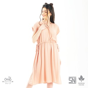 Harga cuit family premium viscose nanase dress hamil menyusui nami series   dusty pink all | HARGALOKA.COM