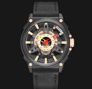 Harga jam tangan pria original belleda 9058 tali kulit premium anti air 50m   | HARGALOKA.COM