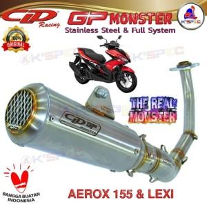 Harga knalpot racing cld type gp monster series aerox 155 amp lexi full | HARGALOKA.COM