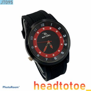 Harga jam tangan pria sport tactical ripcurl rs095 tali karet rubber d 4 5cm   hitam | HARGALOKA.COM