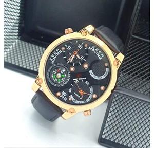 Harga jam ripcurl 2 mesin tali jam tangan kulit leather premium pria cowok   | HARGALOKA.COM