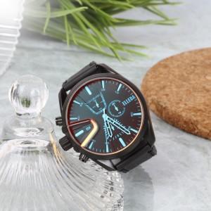 Harga jam tangan pria original belleda 9066 anti air 50m tali kulit premium   hitam | HARGALOKA.COM