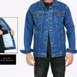 Harga jaket jeans pria jaket denim jaket levis pria   bio wash   HARGALOKA.COM