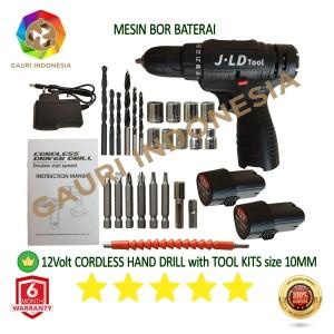 Harga mesin bor baterai 12volt cordless hand drill size 10mm power | HARGALOKA.COM