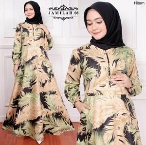 Harga baju fashion maxi gamis syari dress wanita muslimah busui jumbo pesta   | HARGALOKA.COM