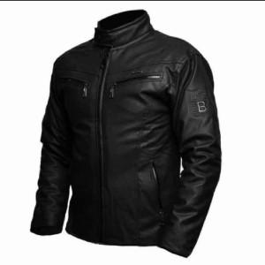 Harga jaket semi kulit bandung terbaru bankers 006 jaket touring jaket motor   hitam   HARGALOKA.COM