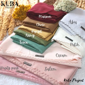 Harga hijab segiempat voila lasercut umama label besi jilbab segiempat   | HARGALOKA.COM