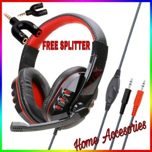 Harga headset gaming murah ovleng x6 stereo gaming headset gratis splitter   kinbas   HARGALOKA.COM