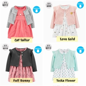 Harga dress cardigan bayi anak perempuan dress bodysuit carter newborn   cat sailor 18   24 | HARGALOKA.COM