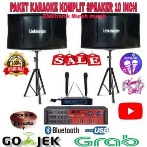 Harga paket karaoke rumahan speaker 10 inch mic wireless sony ampli | HARGALOKA.COM