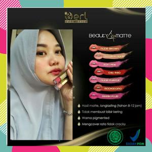 Harga lip matte berl cosmetics lip cream beauty lipstick matte tahan 12 | HARGALOKA.COM