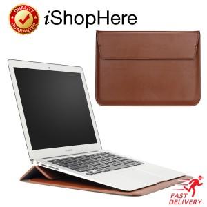 Harga sleeve with stand tas laptop sarung case macbook pro air 11 13 15 inch   cokelat 15 | HARGALOKA.COM