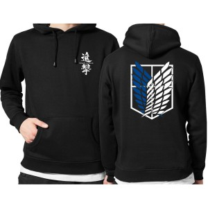 Harga jaket hoodie distro anime attack on titan polos custom indonesia | HARGALOKA.COM