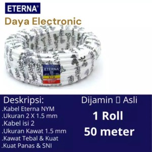 Harga kabel listrik eterna nym 2x1 5 isi 2 dua kabel kawat | HARGALOKA.COM