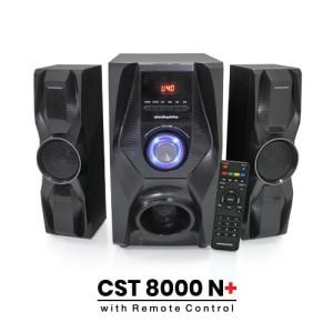 Harga speaker bluetooth simbadda cst 8000n subwoofer mega bass power led   HARGALOKA.COM