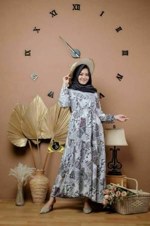 Harga gamis wania busui dress muslim modern gamis syari   motif | HARGALOKA.COM