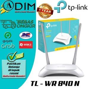 Harga modem router wireless wifi tp link tl wr840n 300 mbps range | HARGALOKA.COM